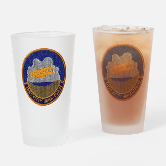 uss kitty hawk cv patch transparent Drinking Glass