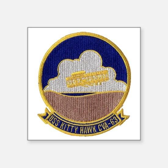 """uss kitty hawk cva patch tr Square Sticker 3"""" x 3"""""""