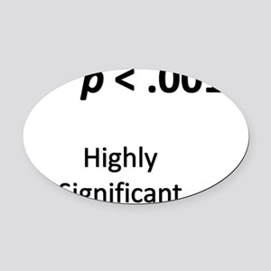 Path Analysis Oval Car Magnet