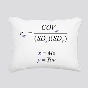 Correlation Formula Rectangular Canvas Pillow