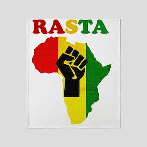Rasta Black Power Africa Throw Blanket
