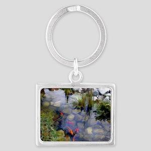 Koi Pond copy Landscape Keychain