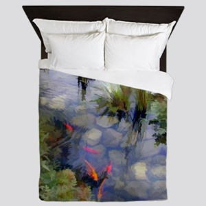 Koi Pond copy Queen Duvet