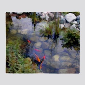 Koi Pond copy Throw Blanket