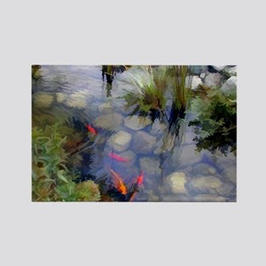 Koi Pond copy Rectangle Magnet