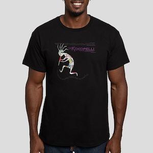 Follow the Kokopelli Men's Fitted T-Shirt (dark)