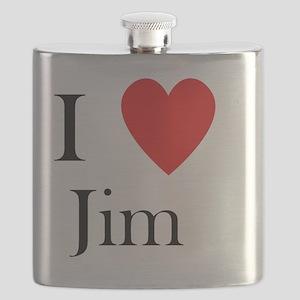 i love jim heart  Flask