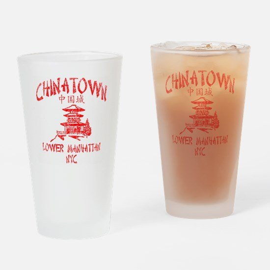 Chinatown Takeout Tee Drinking Glass