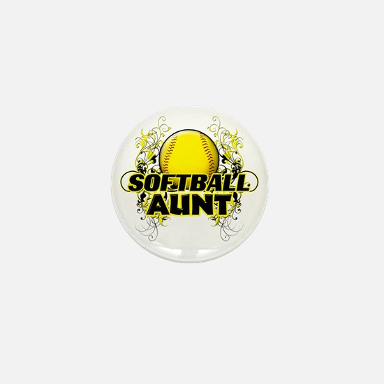 Softball Aunt (cross) Mini Button