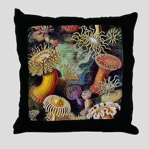 Ernst Haeckel Sea Anemones Throw Pillow