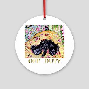 Scottish Terrier Off Duty Round Ornament