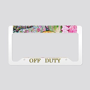 Off Duty Scottish Terrier License Plate Holder