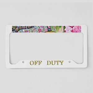 Off Duty Scottish Terrier License Plate Holder