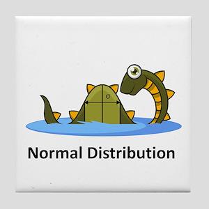 Normal Distribution Tile Coaster