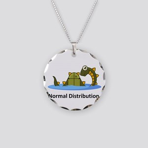 Normal Distribution Necklace Circle Charm