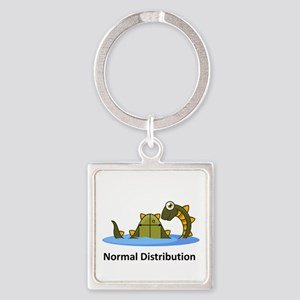 Normal Distribution Square Keychain