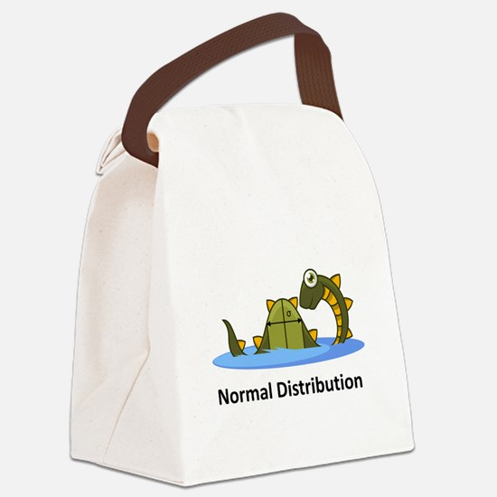 Normal Distribution Canvas Lunch Bag