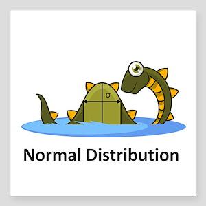 "Normal Distribution Square Car Magnet 3"" x 3"""