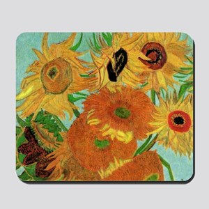Van Gogh twelve sunflowers Mousepad