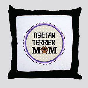 Tibetan Terrier Dog Mom Throw Pillow