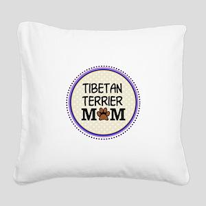 Tibetan Terrier Dog Mom Square Canvas Pillow