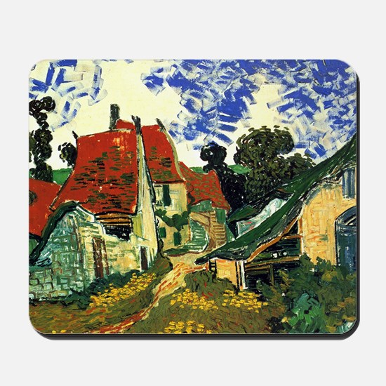 Villages Street in Auvers Mousepad