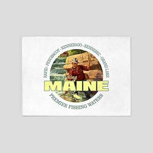 Maine Fly Fishing 5'x7'Area Rug