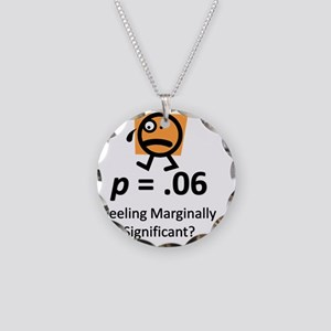 Feeling Marginally Significa Necklace Circle Charm