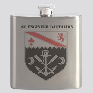 DUI - 1st Engineer Battalion with Text Flask