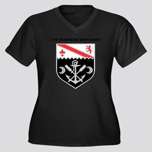 DUI - 1st En Women's Plus Size Dark V-Neck T-Shirt