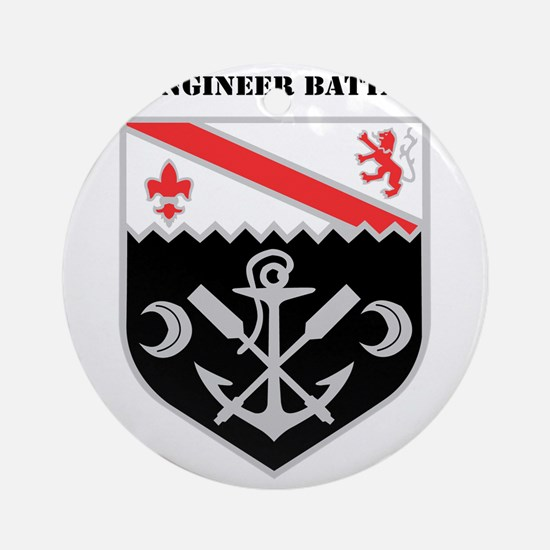 DUI - 1st Engineer Battalion with T Round Ornament