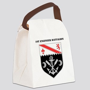 DUI - 1st Engineer Battalion with Canvas Lunch Bag