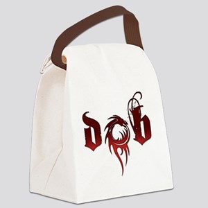 DOB red Canvas Lunch Bag
