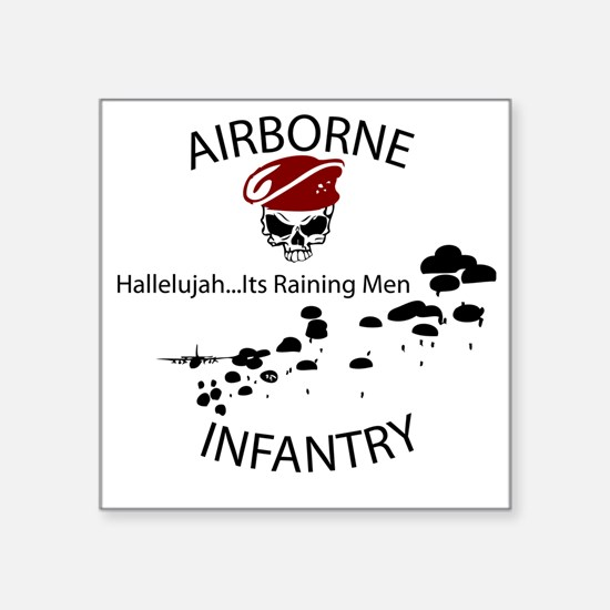 "airborne infantry Square Sticker 3"" x 3"""
