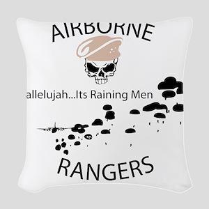 airborne ranger Woven Throw Pillow