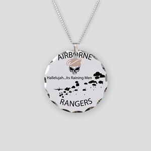 airborne ranger Necklace Circle Charm