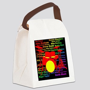 drum and drummer Canvas Lunch Bag