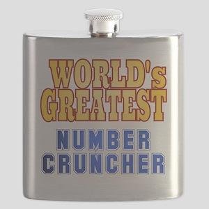World's Greatest Number Cruncher Flask