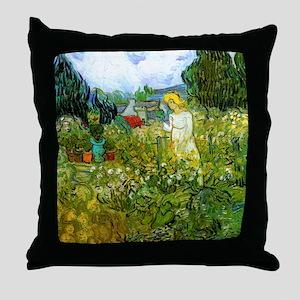 Van Gogh Marguerite Gachet in the Gar Throw Pillow