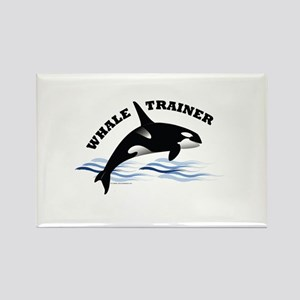 Whale Trainer Rectangle Magnet