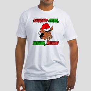 Italian Christmas Donkey Fitted T-Shirt