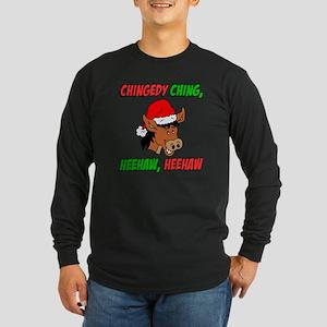 Italian Christmas Donkey Long Sleeve Dark T-Shirt