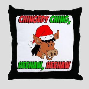 Italian Christmas Donkey Throw Pillow