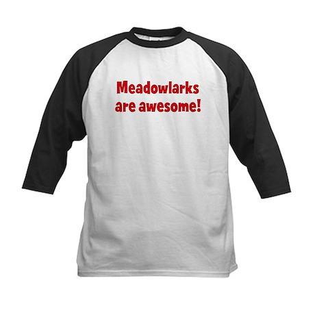 Meadowlarks are awesome Kids Baseball Jersey