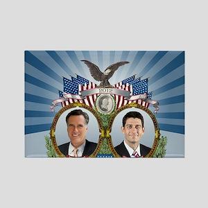 Romney Ryan Jugate Rectangle Magnet