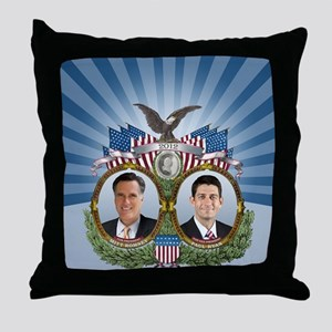 Romney Ryan Jugate Throw Pillow