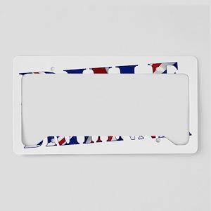 Rule Britannia License Plate Holder