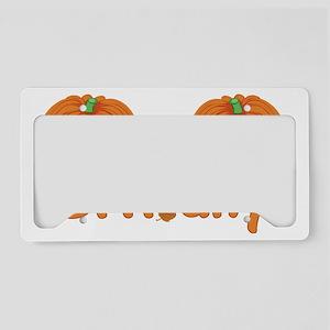 Halloween Pumpkin Brittany License Plate Holder