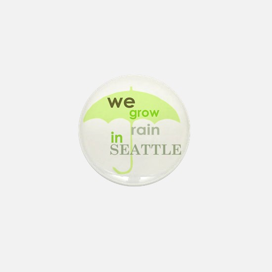 grow rain in seattle Mini Button