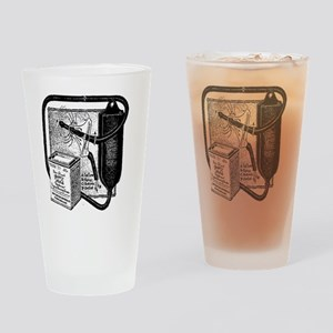Vintage douche bag Drinking Glass